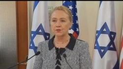 2012-11-21 美國之音視頻新聞: 希拉里‧克林頓前往拉馬拉與開羅斡旋停火