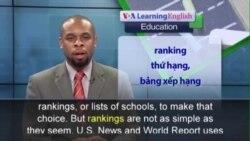 Phát âm chuẩn - Anh ngữ đặc biệt: College Rankings (VOA)