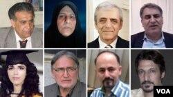 تصویر تعدادی از امضاء کنندگان نامه سرگشاده ۳۸ کنشگر سیاسی و مدنی درون ایران خطاب به پرزیدنت جو بایدن.