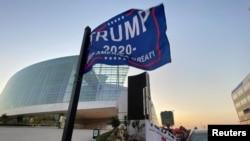 """Pristalice predsjednika Trumpa kampuju ispred centra """"Banka Oklahome"""" u Tulsi, 17. juna 2020, tri dana pre njegovog mitinga"""