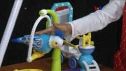Competencia de juguetes navideños