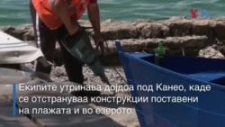 Одекнаа бушилки, копачи, чекани - се уриваат дивоградби на охридските плажи