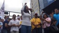 """""""Venezuela se respeta"""": Parlamentaria venezolana Marialbert Barrios"""
