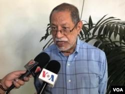 El analista político y exembajador de Nicaragua ante la OEA, Edgar Parrales. Foto de Daliana Ocaña, VOA.