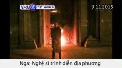Nghệ sĩ Nga bị bắt vì đốt cửa trụ sở an ninh (VOA60)