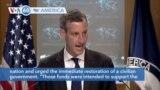 VOA60 America - US Suspends $700 million in aid to Sudan