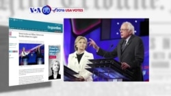 VOA60 Elections - Sanders, Clinton Battle in New York Democratic Debate
