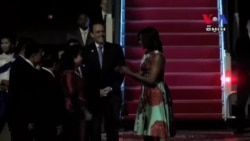 U.S. First Lady Michelle Obama Arrived in Siem Reap