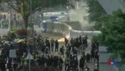香港警方動用水砲車、催淚彈驅散示威者 (粵語)