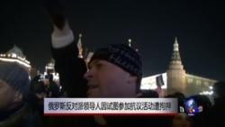俄罗斯反对派领导人试图参加抗议活动被拘押