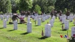 川普總統向美國陣亡將士表達敬意 (粵語)