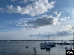 The downtown Charlottetown waterfront on a normal Sunday. (Jay Heisler/VOA)