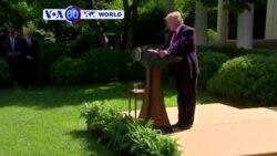 Perezida w'Amerika Donald Trump yatangaje ko igihugu kivuye mu masezerano y'i Paris kw'ihindagurika ry'ibihe