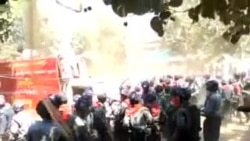 Mobile Video of Myanmar Police Clash with Student Protesters