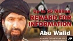 Fotografija poternice za Adnanom Abu Valid al-Sahravijem, liderom Islamske države Velika Sahara.
