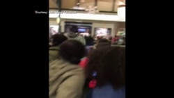 Patrons fight at a Cleveland, OH shopping mall