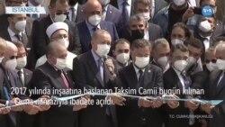 Erdoğan Cami Açılışında Gezi Eylemcilerini Suçladı