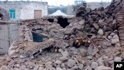 Ruševine nakon zemljotresa u selu Baskale u pokrajini Van, Turska, 23. februara 2020.