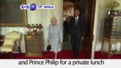 VOA60 World - England: U.S. President Barack Obama meets Queen Elizabeth