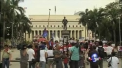 菲律宾爆发反美抗议