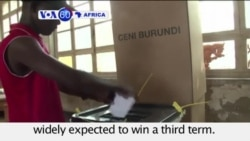 VOA60 Africa- Burundi: Voters head to the polls amid gunfire and grenade blasts; President Pierre Nkurunziza expected to win- July 21, 2015