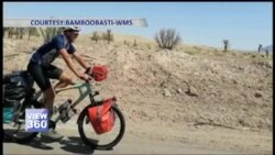 بانس کی سائیکل پر دُنیا گھومنے والا جرمن سیاح پاکستان پہنچ گیا