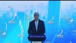 2013-10-08 美國之音視頻新聞: 克里重申美國重返亞洲的承諾