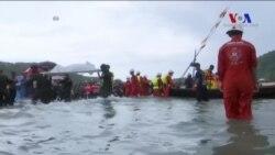 Düşen Myanmar Uçağının Enkazına Ulaşıldı