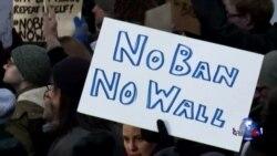 川普移民禁令引发抗议