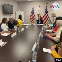 Kamala Harris visita El Paso, Texas y se reúne con líderes religiosos y comunitarios, el viernes 25 de junio de 2021.
