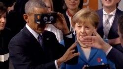 2016-04-25 美國之音視頻新聞: 奧巴馬參觀漢諾威博覽會