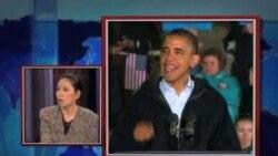 """时事大家谈:经济与""""桑迪""""将左右美国大选结果?"""