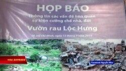 Người dân Lộc Hưng bị ngăn cản họp báo