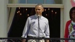 美国万花筒:白宫举行复活节滚彩蛋活动