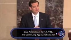 克鲁兹参议员结束21小时冗长发言
