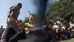 藏青会在印度中国使馆外抗议习近平访印