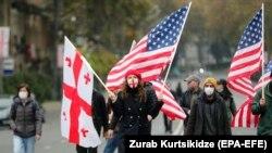 Акция оппозиции в Тбилиси 18 ноября 2020 г.