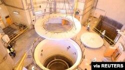 지난해 12월 촬영한 이란 아라크 원자로 내부. (자료사진)