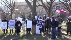 华盛顿特区移民游行在国家广场举行