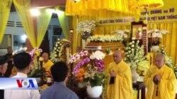 Tang lễ của Tăng thống Thích Quảng Độ diễn ra trang nghiêm, đơn sơ