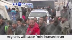 VOA60 World - Record number of people escaping war and violence coming to Greece