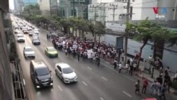 Myanmar Migrants in Thailand Voice Outrage at Coup