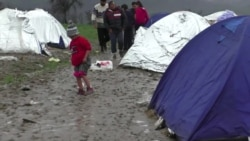 Hundreds of Afghans Stranded at Muddy Camp in Macedonia