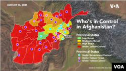 Afghan Government-Taliban Control