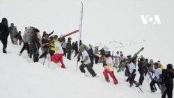 جشنوارۀ بازیهای زمستانی در بامیان