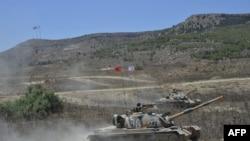 ພາບທີ່ຢາຍໃຫ້ໂດຍກອງທັບເທີກີໃນວັນທີ 7 ກັນຍາ, 2020 ສະແດງໃຫ້ເຫັນວ່າທະຫານກໍາລັງຢູ່ເທິງລົດຖັງ M48 Patton ໃນຂະນະທີ່ທໍາການຊ້ອມລົບໃນເຂດທີ່ສະຖາປະນາຕົນເອງວ່າ ເປັນສາທາລະນະເທີກີ ຢູ່ພາກເໜືອຂອງປະເທດໄຊປຣັສ.