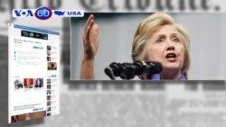 Hơn một nửa người Mỹ không hài lòng về 2 ứng viên tổng thống (VOA60)