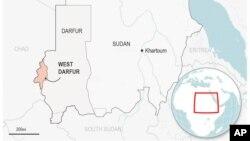 Mapa Zapadnog Dafura