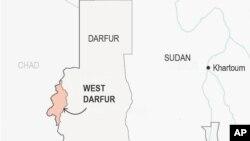 تاسو په نقشه کې ختیځ دارفور کې ګورئ