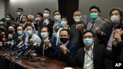 Các nhà lập pháp ủng hộ dân chủ của Hong Kong.